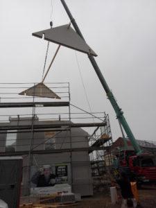 Der Dachstuhl entsteht